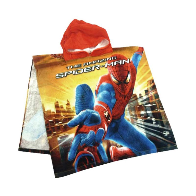 Babylonish Handuk Ponco Spiderman Red