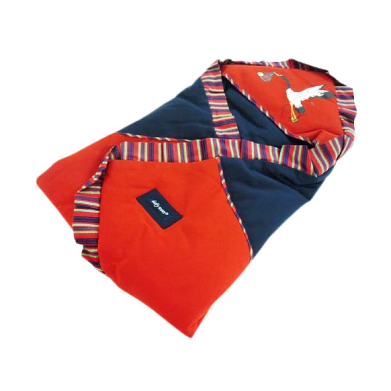 Babyscots Blanket Salur Navy Blue Red Selimut Bayi