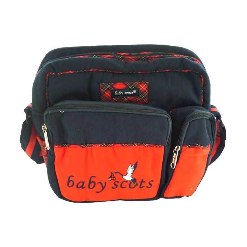 BabyScots Tas Scots Sedang Navy Blue Red