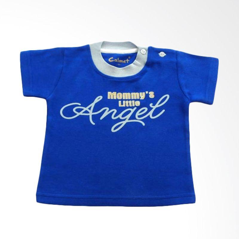 Calmet Kaos Kreatif Pendek Mommy's Little Angel Biru
