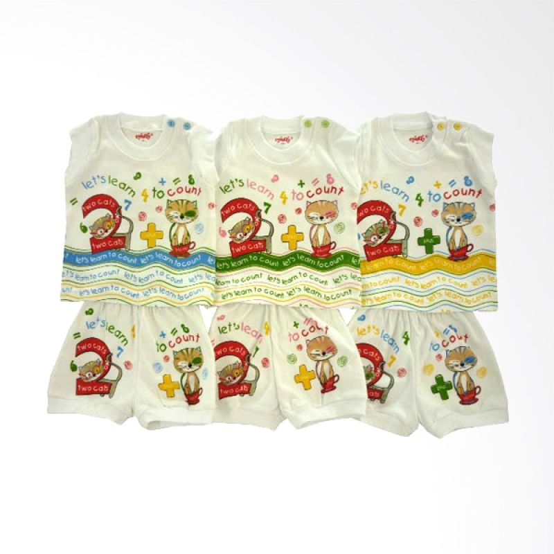 Costly Let's Learn To Count KSYPCLNSG4RIP Setelan Baju Anak [Set of 3]