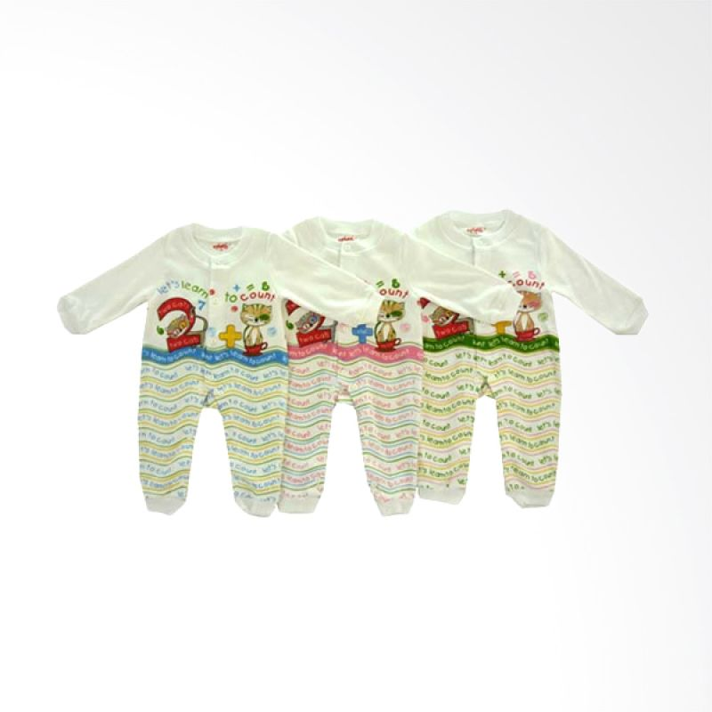 Costly Let's Learn To Count HSPPJGRIP Jumpsuit Anak [Set of 3]