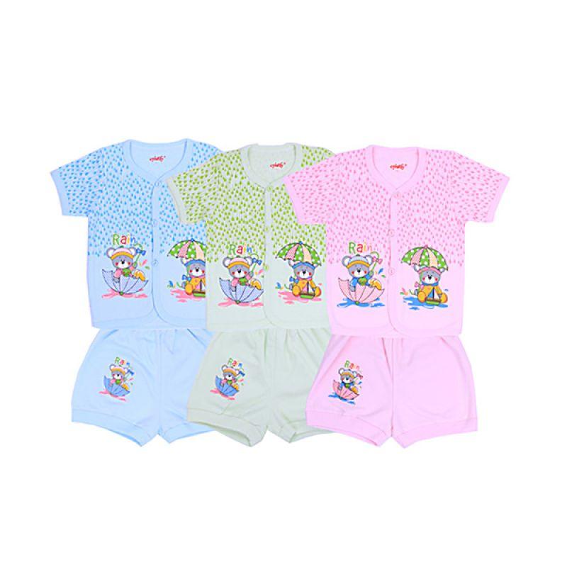 Costly Rain Pendek Kaos dan Celana SG4 Rip Setelan Bayi [Biru or Hijau or Pink]