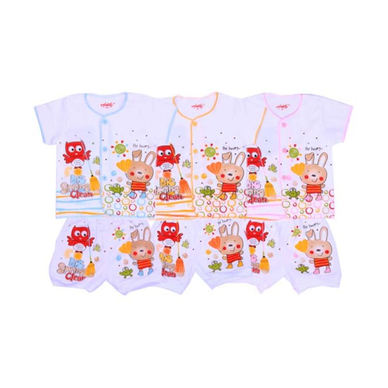 Costly Rip Big Spring Clean SG4 Multicolor Setelan Bayi [Biru/Kuning/Pink/3 Pcs]