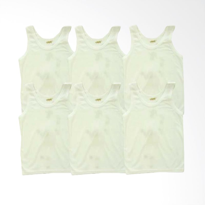 Costly Sld Polos Putih Pakaian Dalam Anak [6 pcs]