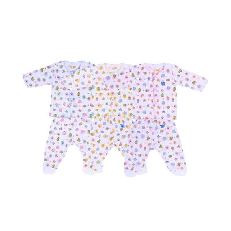 Fully Back To Home Kaos dan Celana Rip Biru Kuning Pink Setelan Bayi
