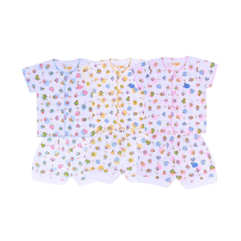 Fully Rip Back To Home SG4 Multicolor Setelan Bayi [Biru/Kuning/Pink]