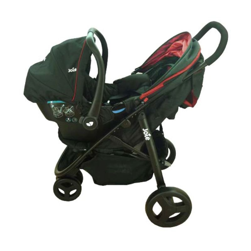 Joie Meet Litetrax Travel System Black Chili Stroler Bayi