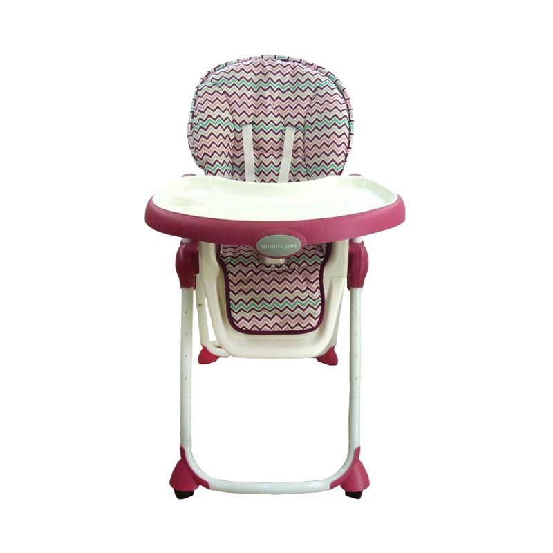 Mamalove HA72 Raspberry High Chair Kursi Makan Bayi