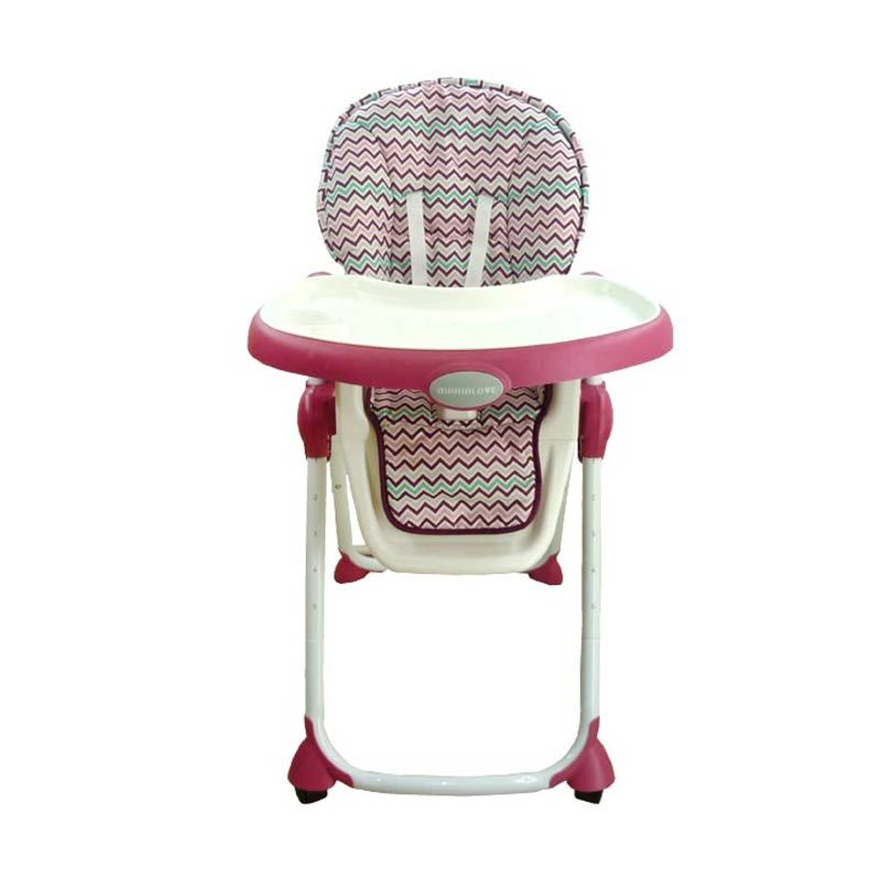 Mamalove High Chair - HA79 - Rasberry Stripe