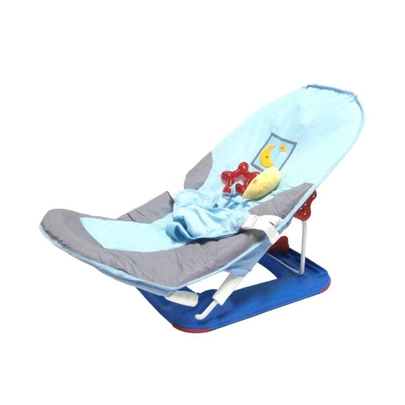 Pliko Fold Up Infant Seat Blue Baby Bouncer