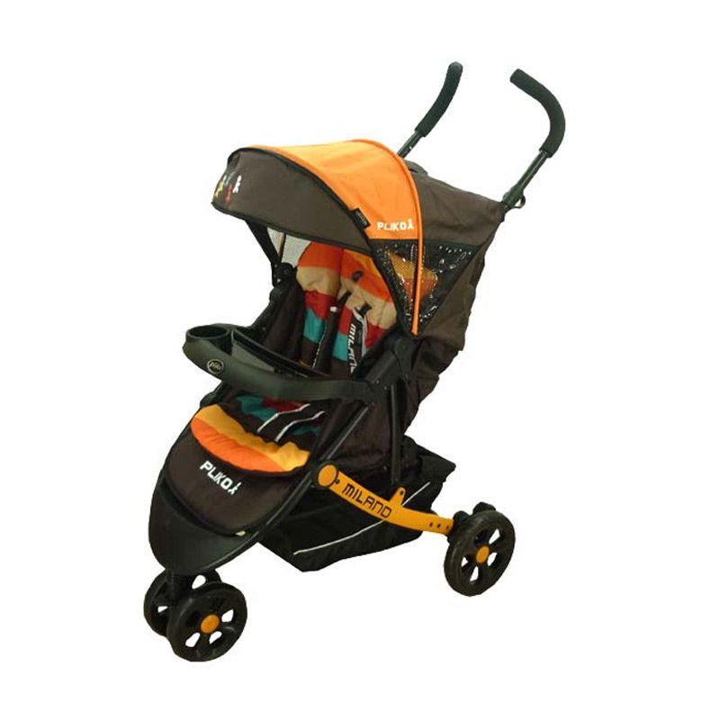 Pliko Milano 586 Orange Stroller Kereta Dorong Bayi
