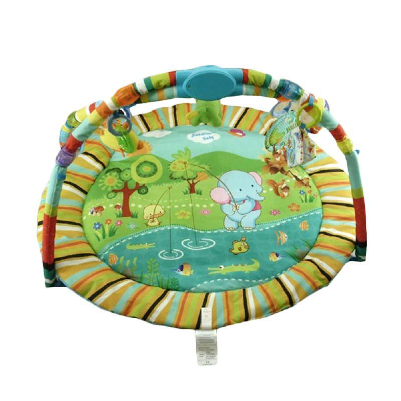 Pliko Playmat 1201 Elephant Light and Music Green Mainan Bayi