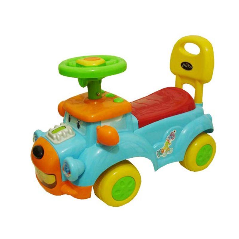 Pliko Ride On Happy Car Blue Mainan Anak