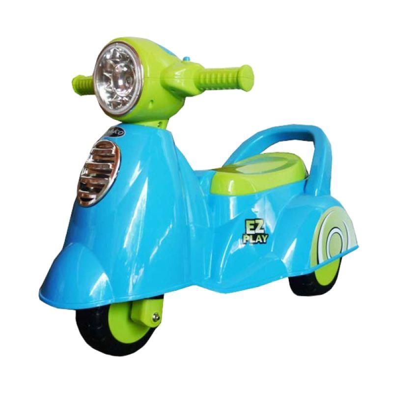 Pliko Ride On Scoopy Blue Mainan Anak