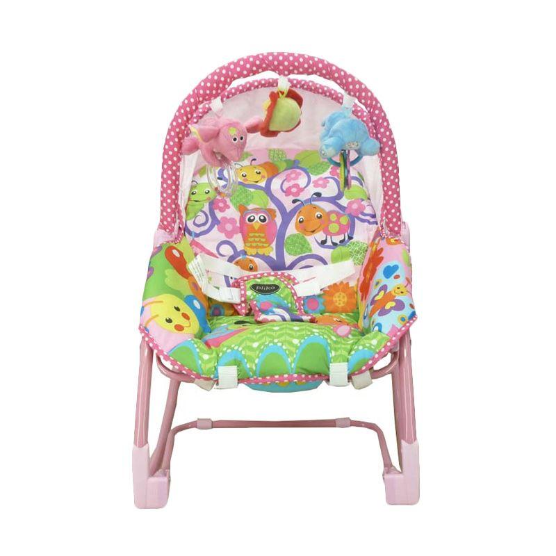 Pliko Rocking Chair 308 Owl Pink Tempat Tidur Bayi