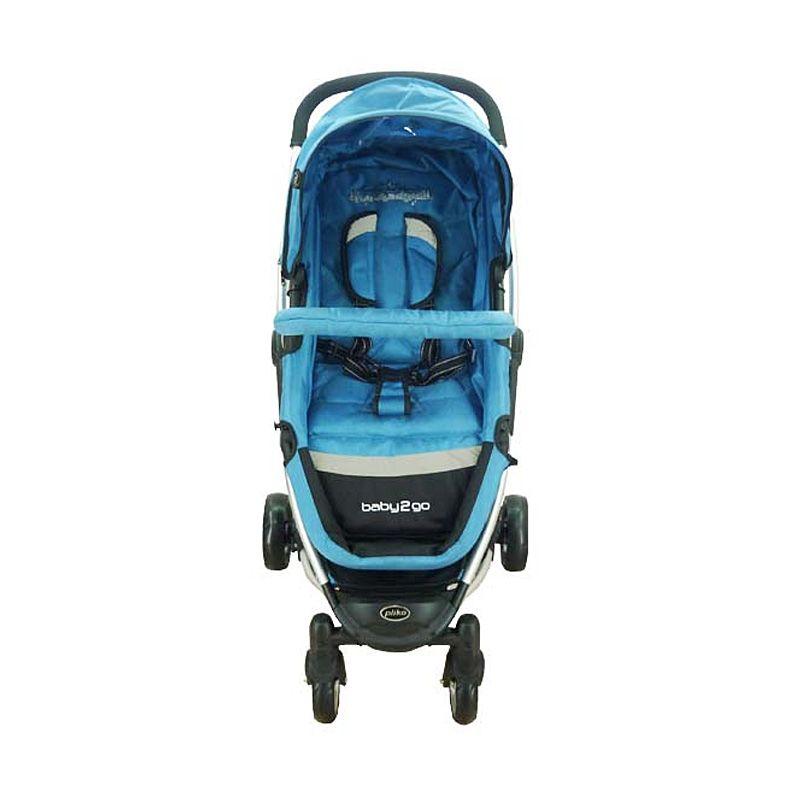 Pliko Stroller Baby 2 Go Blue Kereta Dorong