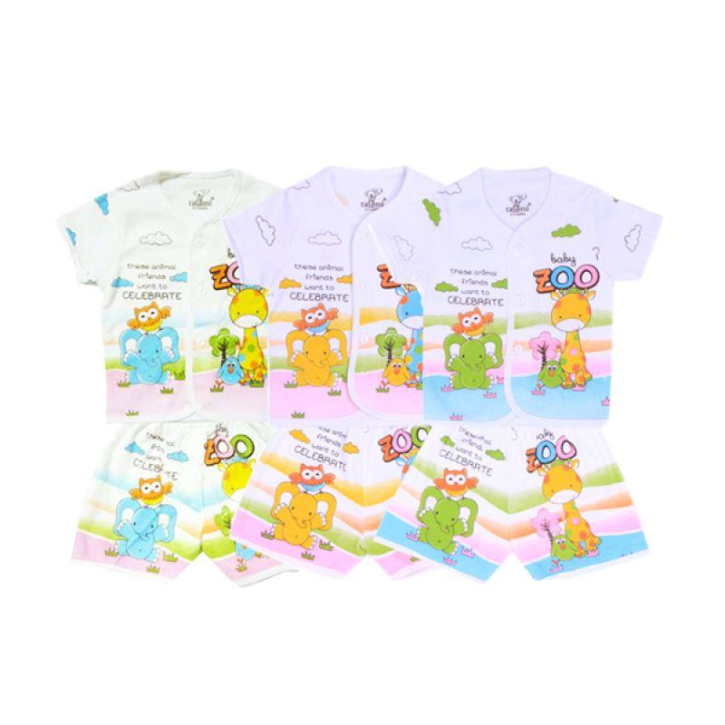 Tatami Baby Zoo Pendek Kaos dan Celana SG4 Rip Setelan Bayi [Biru or Kuning or Hijau]