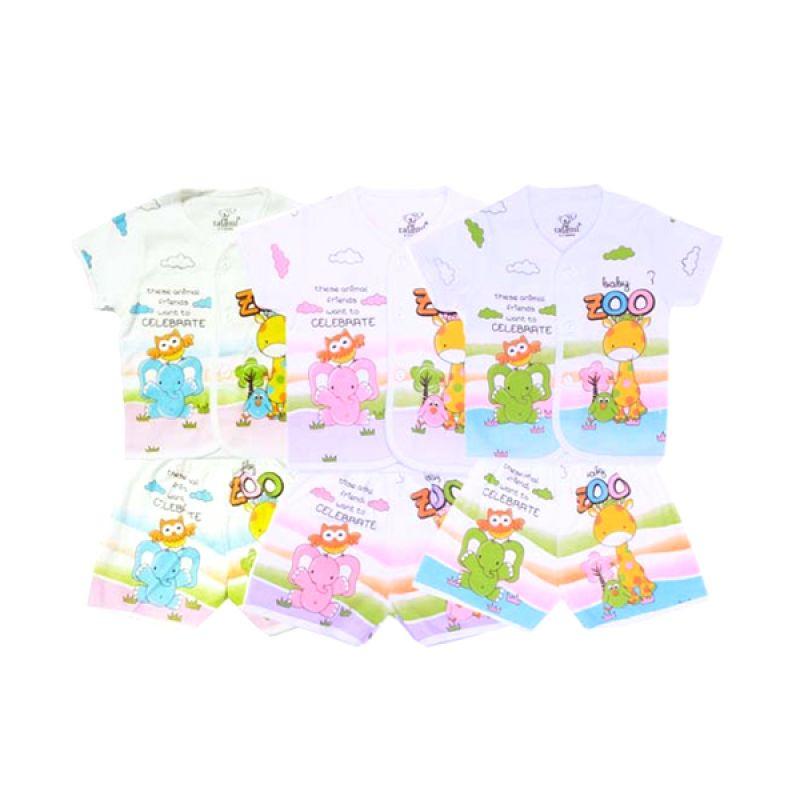 Tatami Baby Zoo Pendek Kaos dan Celana SG4 Rip Setelan Bayi [Biru or Pink or Hijau]