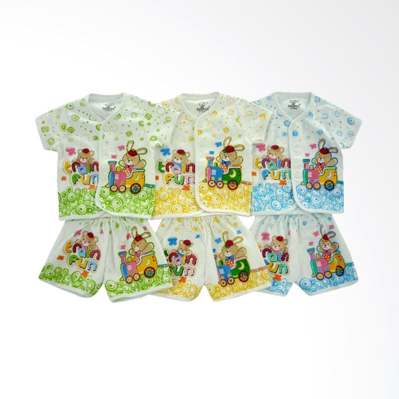 Tatami SG4 Train Fun 2 Multicolor Setelan Bayi [Hijau/Kuning/Biru/3 Pcs]