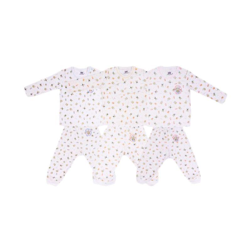Tokusen Frogy Kaos Oblong Panjang dan Celana Panjang Rip Set Setelan Bayi [Biru/Kuning/Pink]