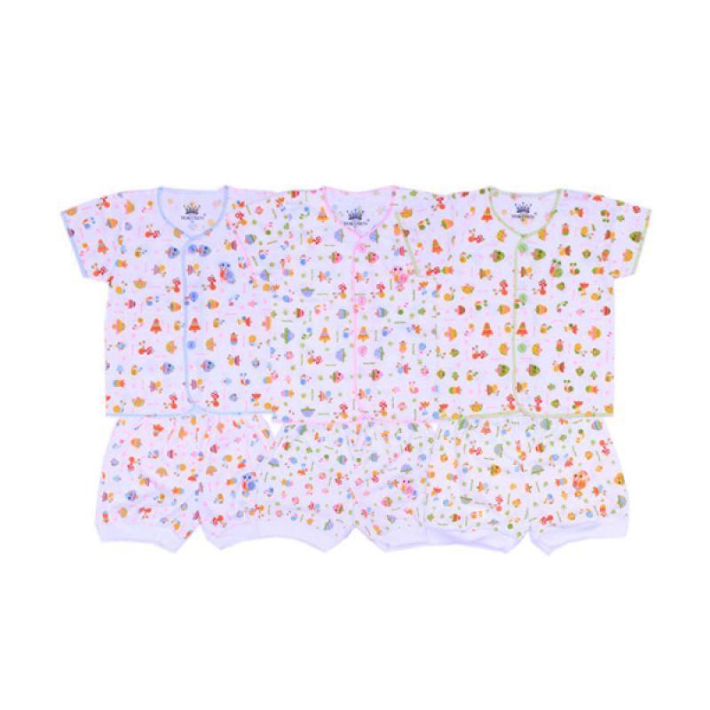 Tokusen Funny Snail K SG4 Multicolor Setelan Bayi [Biru/Pink/Hijau]