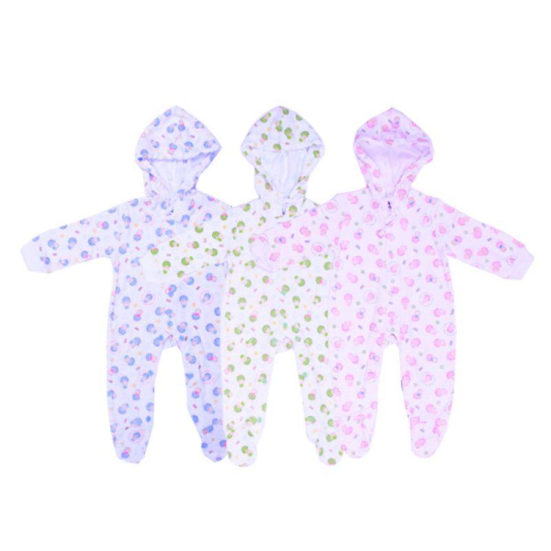 Tokusen Hansop Kaki Topi My Wool Multicolor Jumpsuit Bayi [Biru/Hijau/Pink]