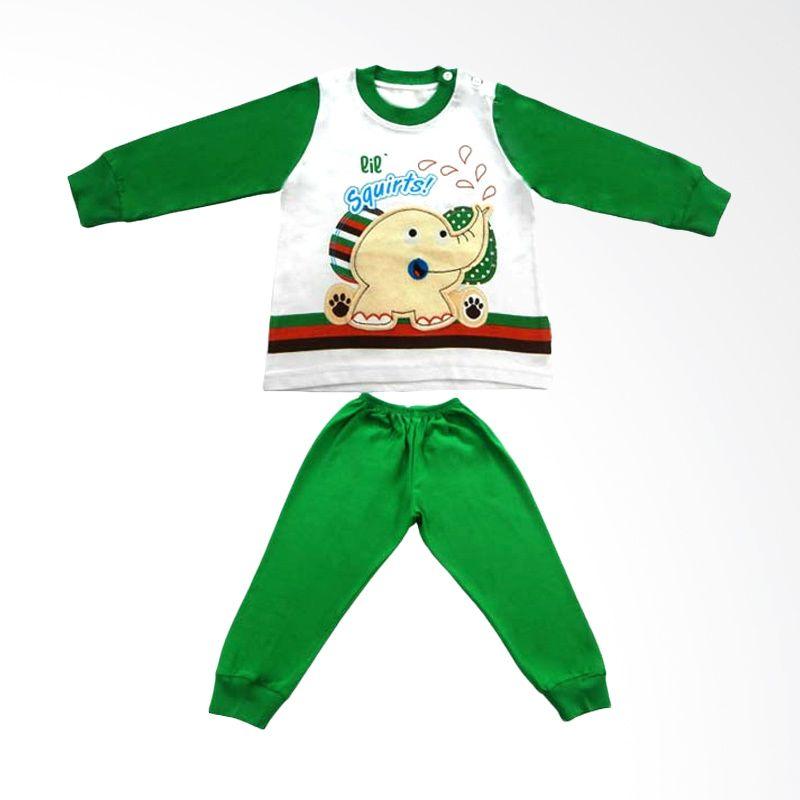 Tokusen Lil Squirts Piyama Panjang Hijau - Baju Tidur Anak