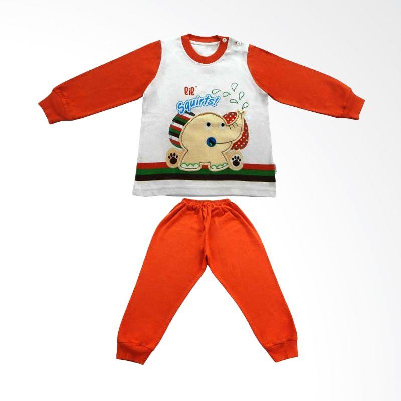 Tokusen Lil Squirts Piyama Panjang Orange - Baju Tidur Anak