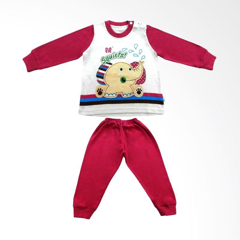 Tokusen Lil Squirts Piyama Panjang Pink - Baju Tidur Anak