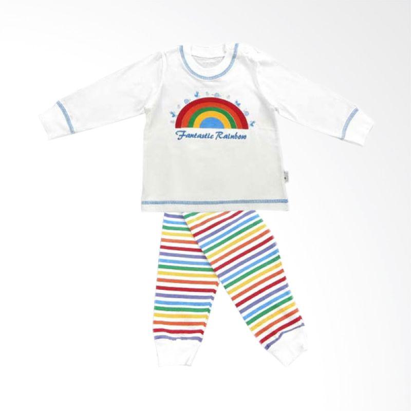 Tokusen Piyama Panjang Fantastic Rainbow Biru