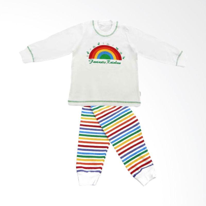 Tokusen Piyama Panjang Fantastic Rainbow Hijau