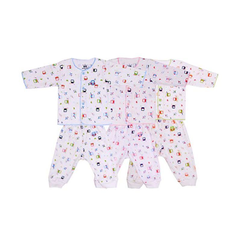 Tokusen Rip Little Night Owl Setelan Baju Anak [Biru/Pink/Hijau]