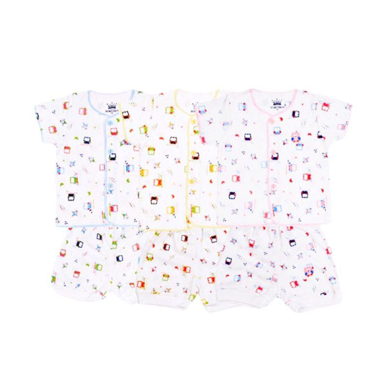 Tokusen Rip Little Night Owl SG4 Multicolor Setelan Bayi [Biru/Kuning/Pink]