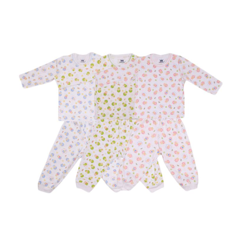 Tokusen Rip My Wool BHP Multicolor Setelan Bayi [Biru/Hijau/Pink]
