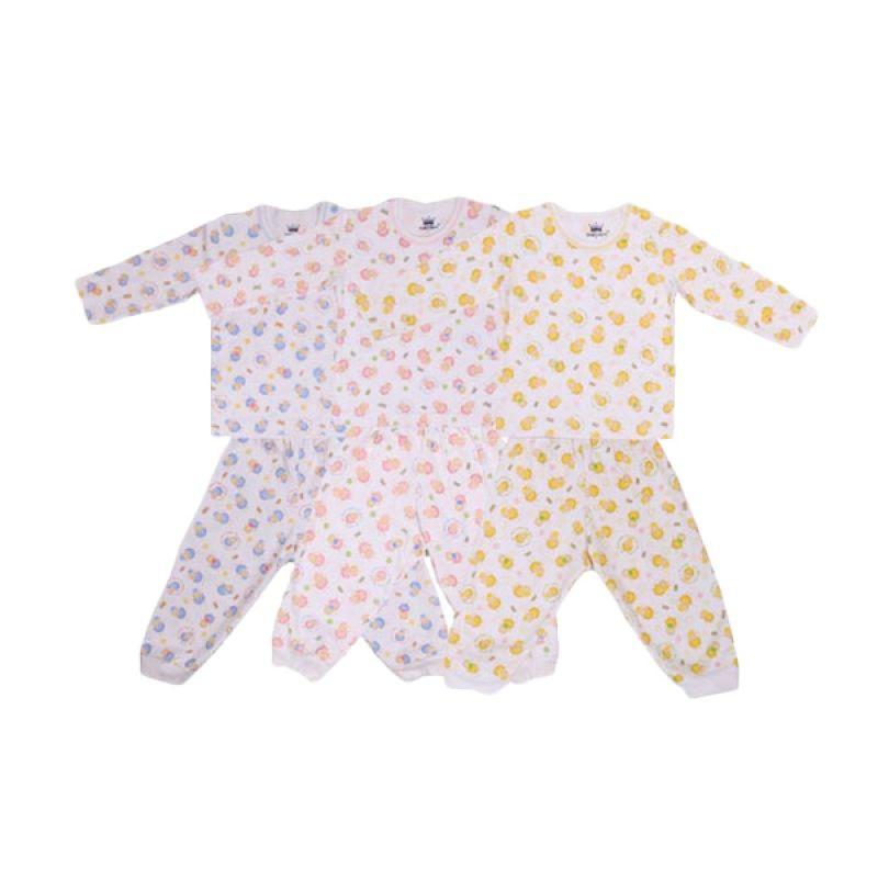 Tokusen Rip My Wool BPK Multicolor Setelan Bayi [Biru/Pink/Kuning]