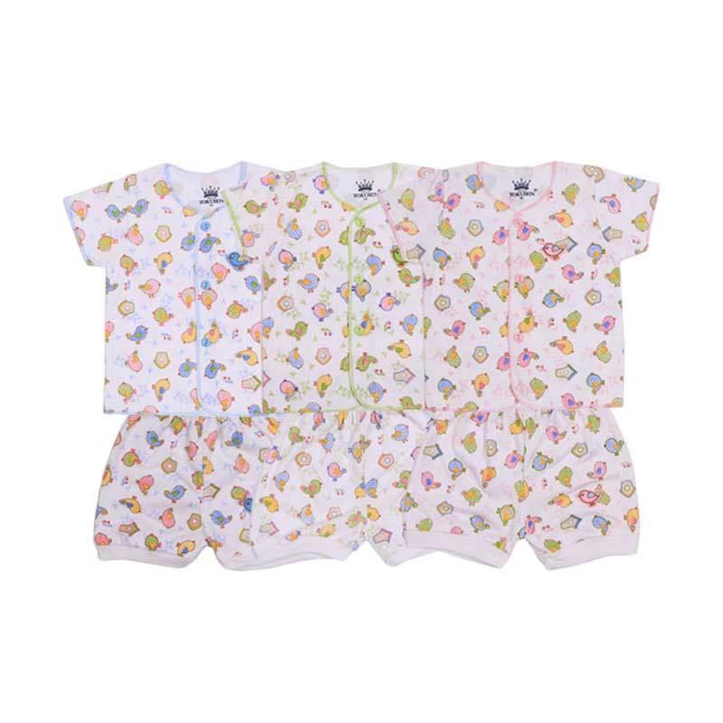 Tokusen Rip Spring Bird SG4 Multicolor Setelan Bayi [Biru/Hijau/Pink]