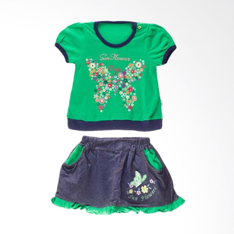 Tokusen ST T-Shirt + Rok Sun Flower Green
