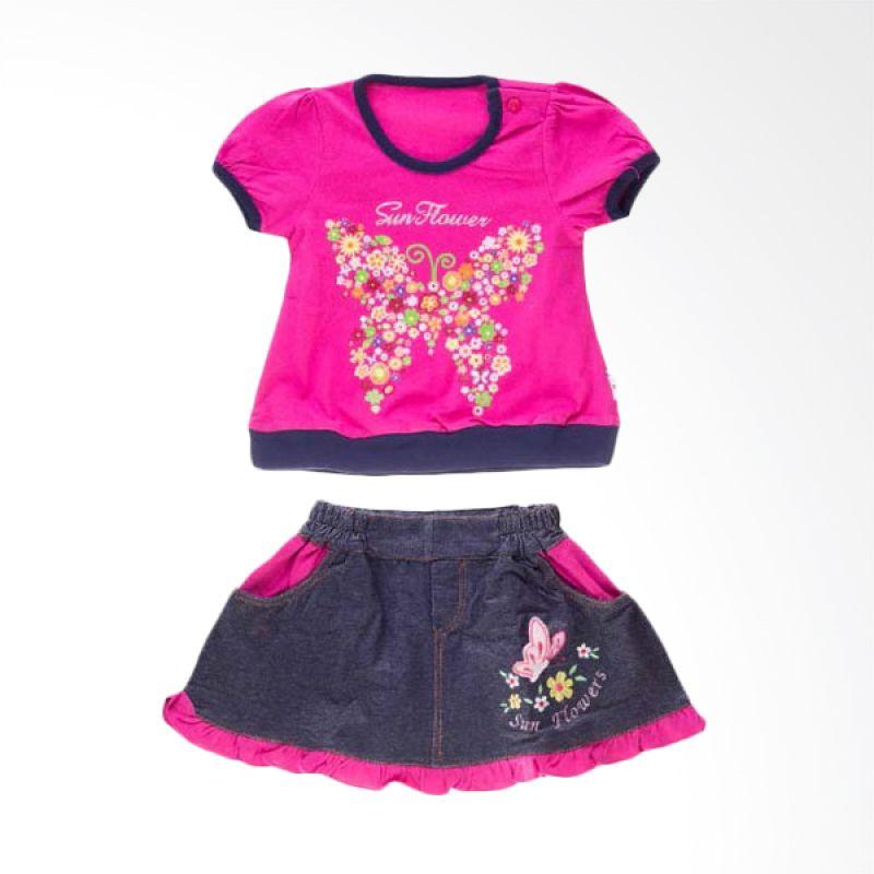 Tokusen ST T-Shirt + Rok Sun Flower Pink