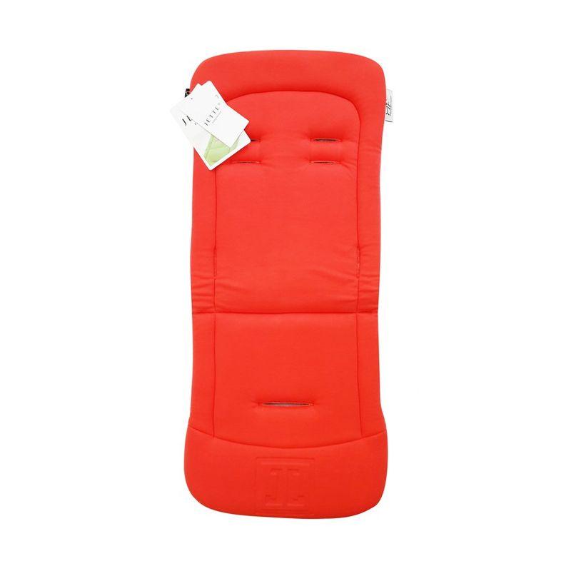 Jette Memory Foam Pad Buggy Overlay Merah Bantalan Kursi Kereta Dorong Bayi