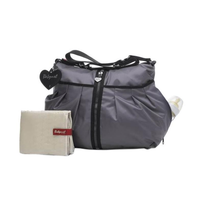 Babymel Amanda Zipper Diaper Bag - Grey