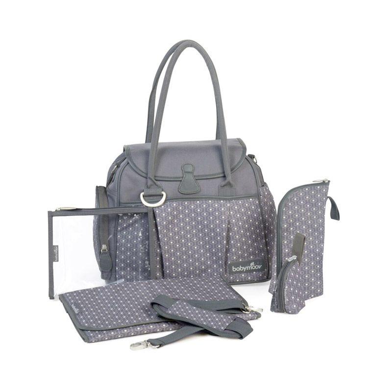 Babymoov Style Bag Zinc Grey Tas Bayi