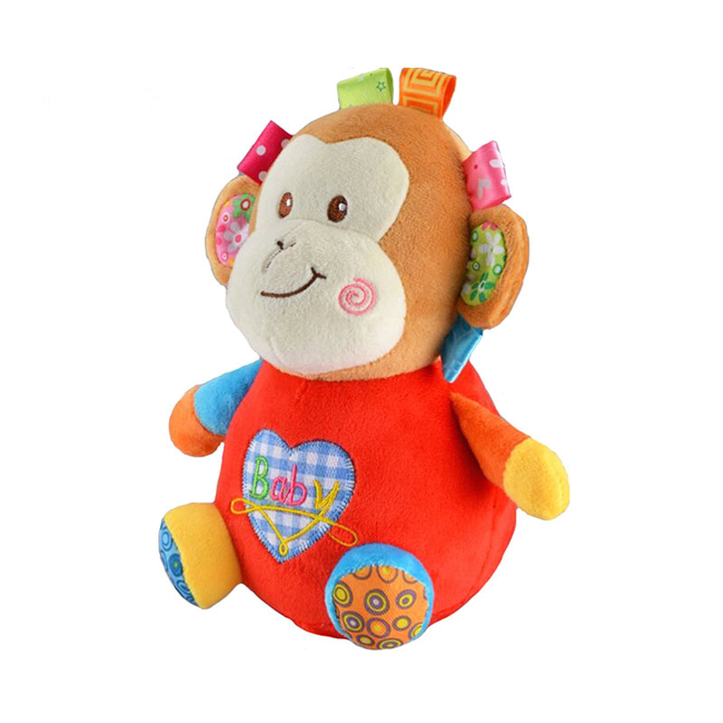 Babywinstore JB Baby Happy Tumbler Soft Toy Monkey Boneka