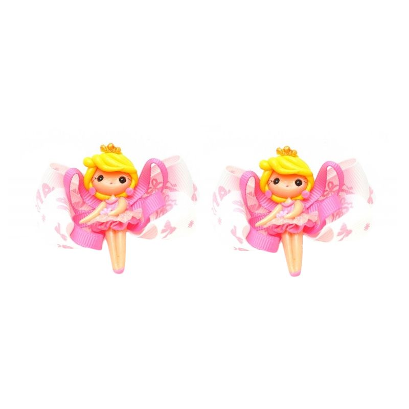 Emily Labels Balerina Pink Yellow Clips Jepit Rambut [2 pack]
