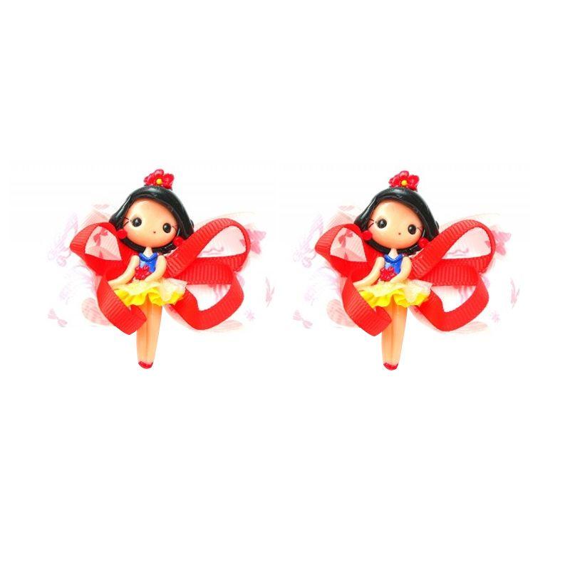 Emily Labels Balerina Red Black Clips Jepit Rambut [2 pack]