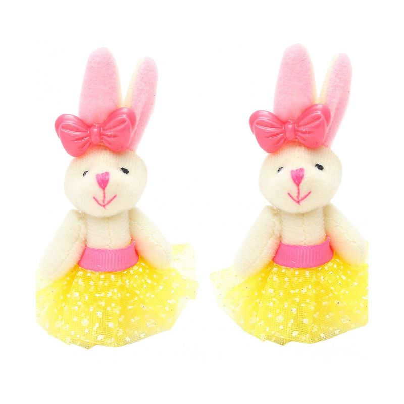 Emily Labels Bunny Yellow Clip Jepit Rambut [2 pack]