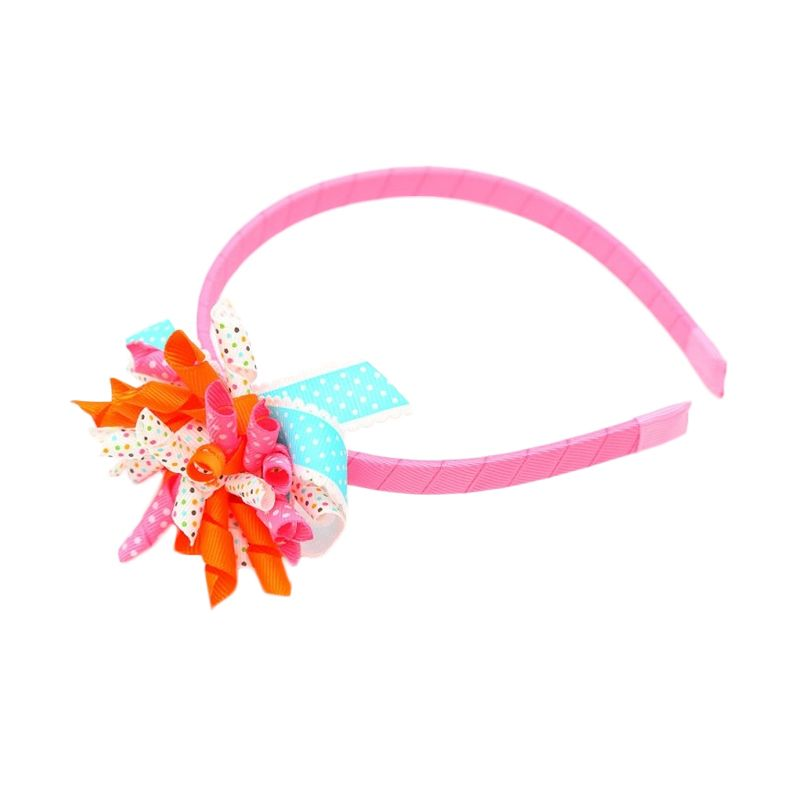 Emily Labels Korker Orange Pink White Bando