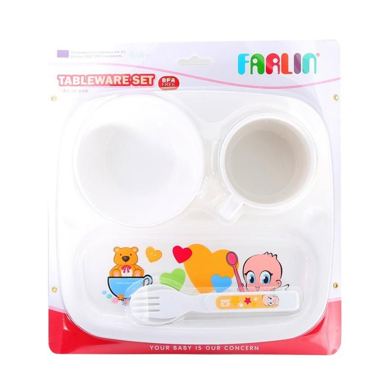 Farlin Tableware Set Putih Alat Makan Bayi