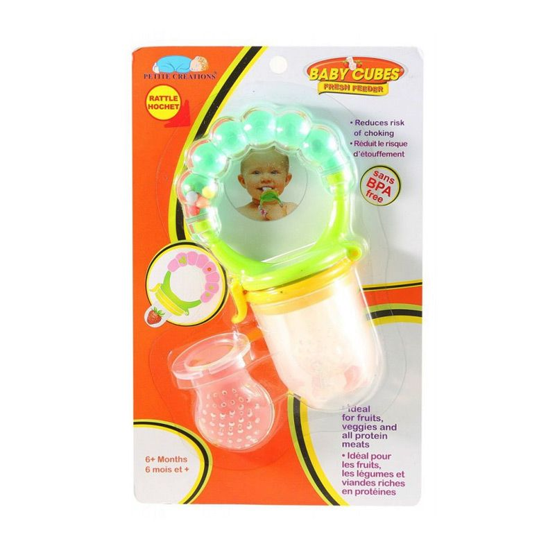 Baby Cubes Fresh Feeder and Rattle Gigitan Bayi