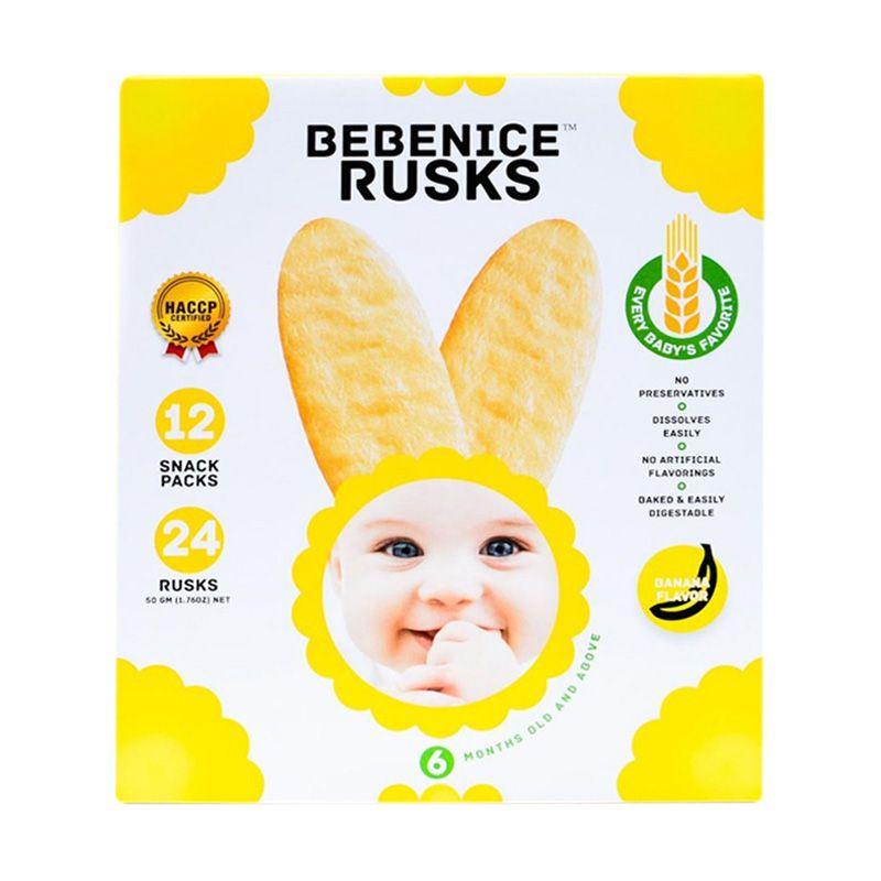 Bebenice Rusks Banana Flavor Snack Bayi [50 gr]